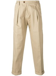 Levi's Made And Crafted Pleated Detail Cropped Trousers Nude Neutrals