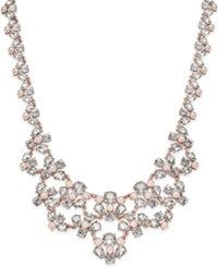 Charter Club Rose Gold Tone Crystal And Imitation Pink Pearl Statement Necklace Only At Macy's