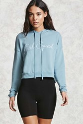 Forever 21 Girl Squad Hoodie Blue