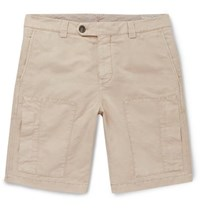 Brunello Cucinelli Linen And Cotton Blend Cargo Shorts Sand