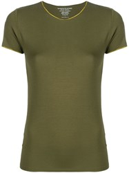 Majestic Filatures Plain Fitted T Shirt Green