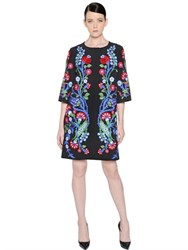Andrew Gn Floral Embroidered Crepe Coat