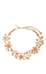 Oscar De La Renta Coral Sea Tangle Necklace Red