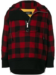 Dsquared2 Hooded Check Sweater Women Calf Leather Polyester Wool 40
