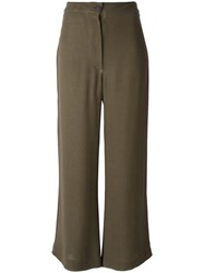 Kristensen Du Nord Wide Legged Cropped Trousers Green