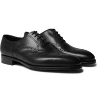 Edward Green Inverness Leather Wingtip Brogues Black