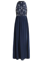 Lace And Beads Coby Maxi Dress Navy Dark Blue