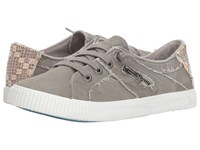 Blowfish Fruit Wolf Grey Smoked Canvas Lace Up Casual Shoes Gray
