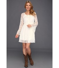 Scully Honey Creek Flirtatious Lace Dress Ivory Women's Dress White