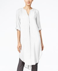 Cable And Gauge Tunic Shirt Ivory