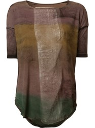 Raquel Allegra Gradient T Shirt Brown