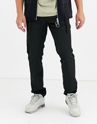 Mennace Nylon Utility Trousers In Black