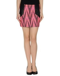 American Retro Mini Skirts Fuchsia