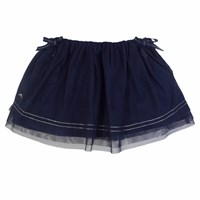 Chateau De Sable French Designer Tulle Skirt Navy Blue
