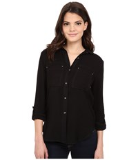 Calvin Klein Jeans Airflow Utility Shirt Black Women's Clothing