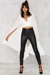 Nasty Gal Kimono Possible Cape Top White
