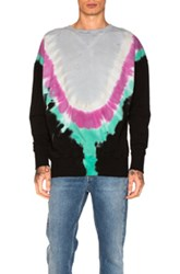 Faith Connexion Tie Dye Sweatshirt In Ombre And Tie Dye Black Blue Ombre And Tie Dye Black Blue