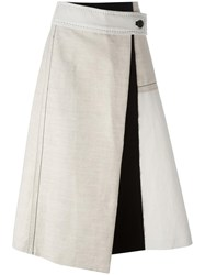 Sportmax Mid Rise A Line Skirt Nude Neutrals