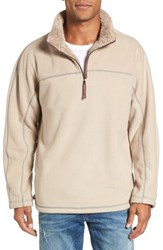 True Grit Bonded Polar Fleece Lined Pullover Sand