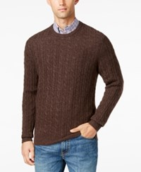 Club Room Men's Cable Knit Cashmere Sweater Only At Macy's Porcupine
