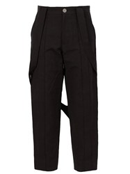 Aganovich Strap Detail Trousers Black