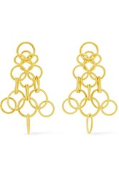 Buccellati Hawaii 18 Karat Gold Earrings One Size