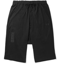 Y 3 Skylight Cotton Jersey Shorts Black