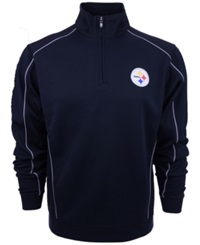 Cutter And Buck Men's Pittsburgh Steelers Drytec Half Zip Jacket Black