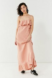 Lucca Couture Ruffle Maxi Dress Rose