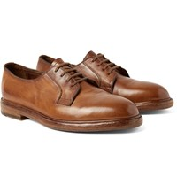 Paul Smith Boyd Pebble Grain Leather Derby Shoes Brown