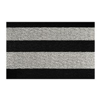 Chilewich Large Stripe Shag Rug Black White Black And White