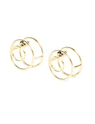 Pixie Market Gold Double Circle Swing Earrings