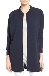 Bobeau Women's Textured Knit Jacket Navy