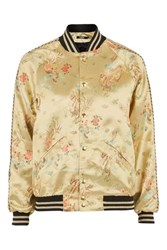 Jaded London Oriental Bomber Jacket By Gold