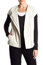 Vince Leather Cap Sleeve Jacket Beige