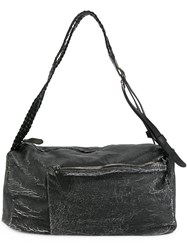 Giorgio Brato Distressed Convertible Holdall Black