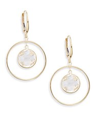 Saks Fifth Avenue White Topaz And 14K Yellow Gold Drop Earrings