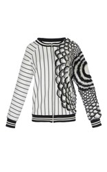 Rahul Mishra Winter Marigold Varsity Jacket Black White