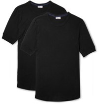 Schiesser Two Pack Karl Heinz Cotton T Shirt Black