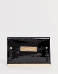 River Island Foldout Purse In Black