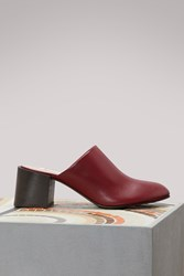 Acne Studios Sil High Heeled Mules Red Wine