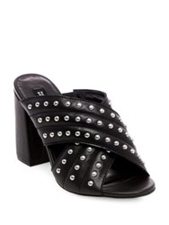 Design Lab Lord And Taylor Kim Studded Crisscross Mules Black