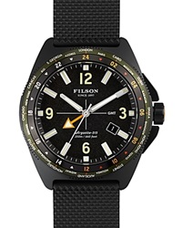 Filson The Journeyman Rubber Strap Watch 44Mm Black