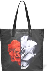 Mcq By Alexander Mcqueen Floral Print Shell Tote Black