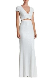 Dress The Population Women's Cara Two Piece Gown White