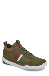 Cycleur De Luxe Shiro Hi Sock Fit Sneaker Military Green Suede