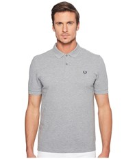 Fred Perry Slim Fit Solid Plain Polo Steel Marl Men's Short Sleeve Pullover Gray