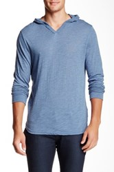 Threads 4 Thought V Neck Long Sleeve Hoodie Blue