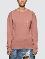 J.W.Anderson Jw Anderson Garment Dyed Jwa Anchor Patch Sweatshirt