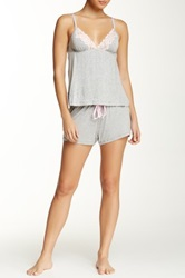 Rene Rofe Camisole And Short Pajama Set Gray